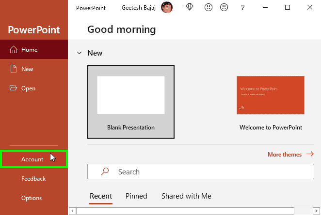 Office Background in PowerPoint